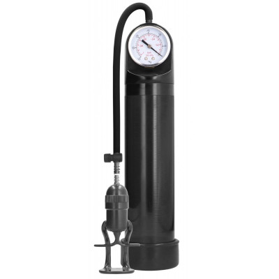 Черная вакуумная помпа с манометром Deluxe Pump With Advanced PSI Gauge
