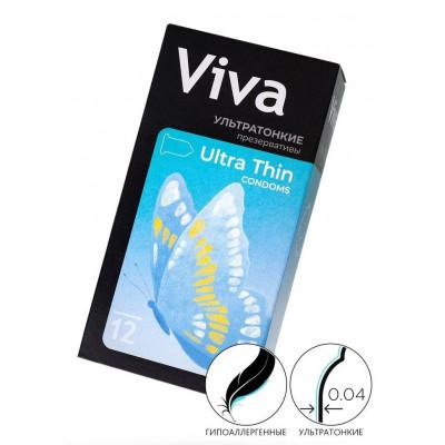 Ультратонкие презервативы VIVA Ultra Thin - 12 шт.